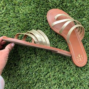 Tory Burch Shoes - Tory Burch Gold Sandals